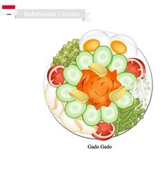 Gado Gado or Indonesian Vegetable Salad vector
