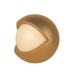 Golden abstract 3d open eye template vector
