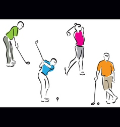 golf men set vector image