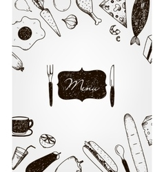 hand drawn restaurant vector image