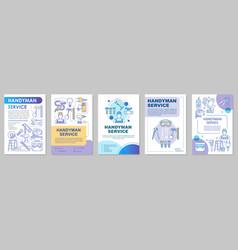 Handyman service brochure template layout home vector