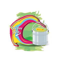 Happy holi design vector