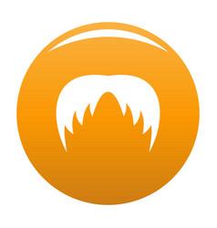 Head hair icon orange vector
