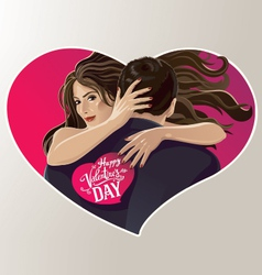 Hugging pair vector image