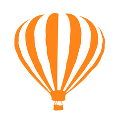 Isolated air balloon silhouette vector
