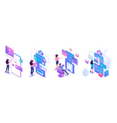 Isometric sets concepts for use mobile vector
