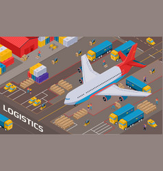 Logistic delivery isometric vector
