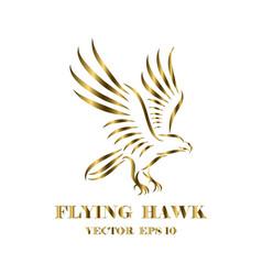logo hawk that is flying eps 10 vector image