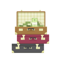 Lots of money heap or million cash pile of dollars vector