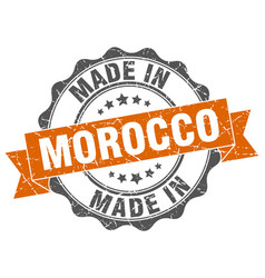 Made in morocco round seal vector