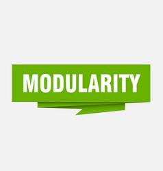 Modularity vector