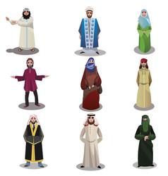 Nationalities in ethnic dress raster vector