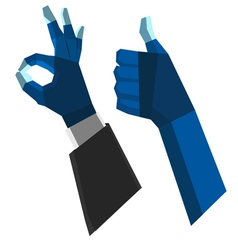 Ok hand polygon vector