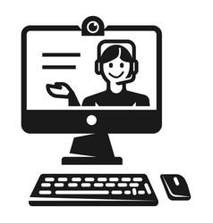 online webinar icon simple style vector image