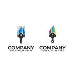 paint house logo vector image