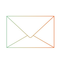 Paper envelope icon in degraded green to red color vector