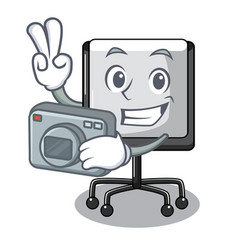 Photographer presentation board cartoon on the vector