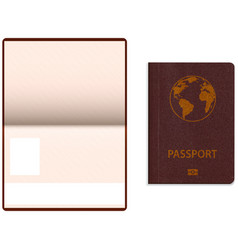 realistic international passport vector image