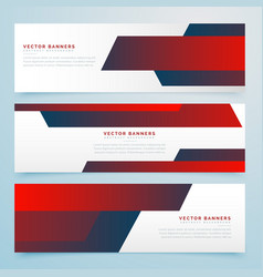 Red abstract business banners template set vector