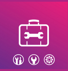 repair tools service icons vector image