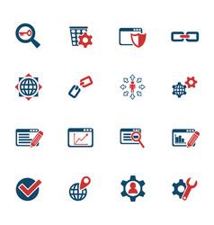 Seo and development icon set vector