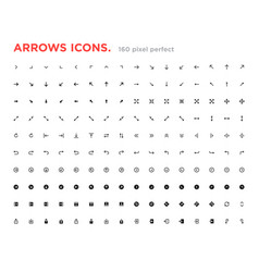 set arrow icons arrows for website and app vector image