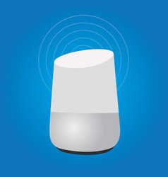 Smart home assistant intelligence speaker vector