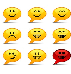Smiley Comics vector image