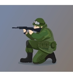 Soldier Holding A Gun vector