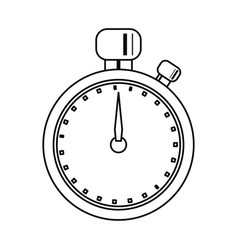 Stopwatch chronometer sport equipment outline vector