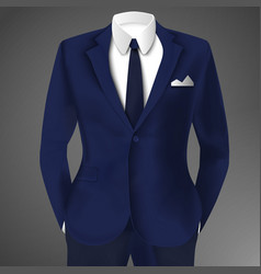 Stylish business blue suit vector