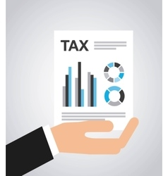 tax form flat icons vector image