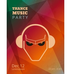 Trance music party poster vector