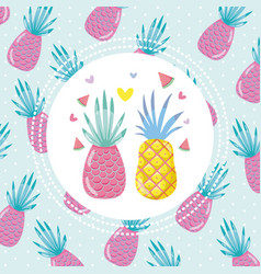 Tropical summer concept design vector