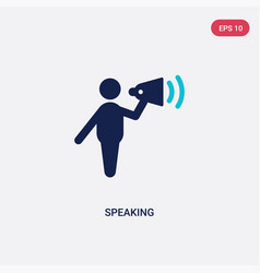 Two color speaking icon from communication vector