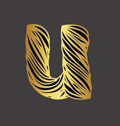 U-letter-design vector