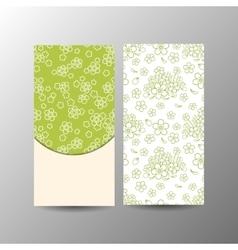 Vertical floral banner template vector