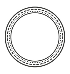 victorian frame isolated icon design vector image