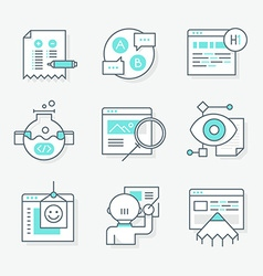 Website Redesign Icons vector
