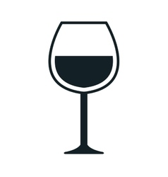 Wine theme design isolated flat icon vector image