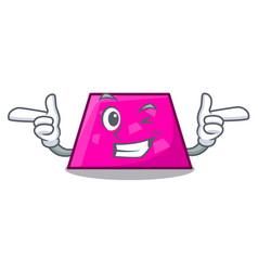 Wink trapezoid character cartoon style vector