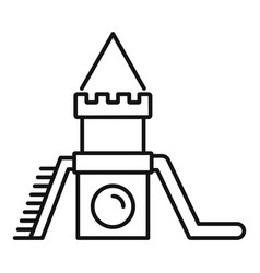 wood kid castle icon outline style vector image