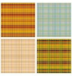 A set of Scottish Patterns vector image