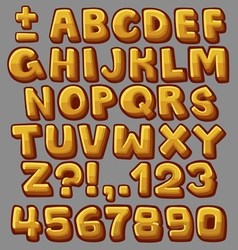 Alphabet yellow vector image vector image