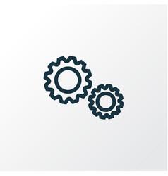 Cogwheel outline symbol premium quality isolated vector