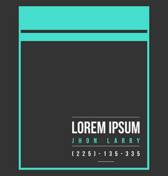 Collection graphic business template name card vector
