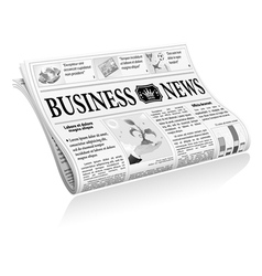 Newspaper Business News vector image vector image