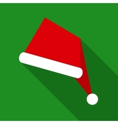 Santa Claus Hat in Flat Style with Long Shadows vector image vector image
