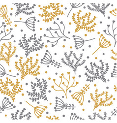 seamless floral pattern in doodle style cute vector image vector image
