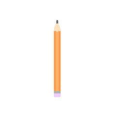 wooden pencil on a white background vector image